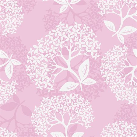 filigree tree - Flower pattern seamless background with hydrangea, element for design, vector illustration Stock Photo - Budget Royalty-Free & Subscription, Code: 400-04863563