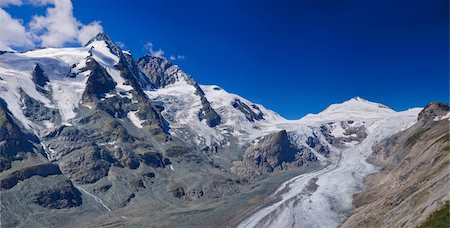 franxyz - Glacier on Grossglockner, summer in Austria. Panorama Stock Photo - Budget Royalty-Free & Subscription, Code: 400-04863911