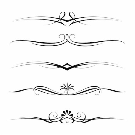 Vector set of decorative elements, border and page rules frame Stock Photo - Budget Royalty-Free & Subscription, Code: 400-04874711