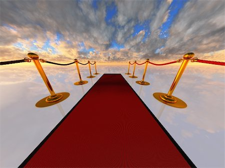 rolffimages (artist) - red carpet in open-space Stock Photo - Budget Royalty-Free & Subscription, Code: 400-04875020