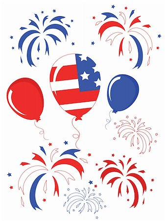 Independence day,balloons and Stock Photo - Budget Royalty-Free & Subscription, Code: 400-04875229