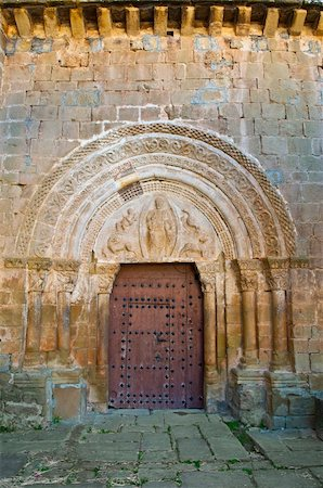 Detail of  Portal of the Romanesque Church in Spain Stock Photo - Budget Royalty-Free & Subscription, Code: 400-04876823