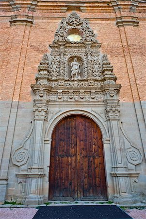 Detail of  Portal of the New Monastery in Spain Stock Photo - Budget Royalty-Free & Subscription, Code: 400-04876847