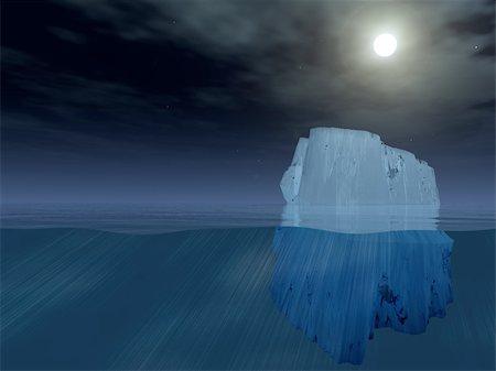 Iceberg at night Stock Photo - Budget Royalty-Free & Subscription, Code: 400-04872428
