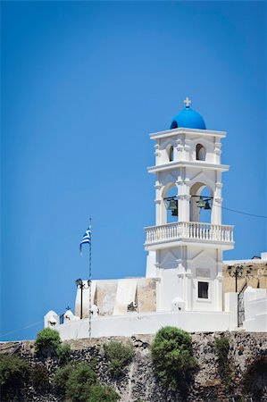 An image of a nice Santorini view with church Stock Photo - Budget Royalty-Free & Subscription, Code: 400-04873093