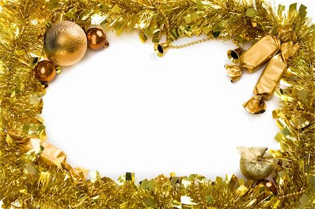 simsearch:400-05749231,k - Christmas composition in form of circle over white background Stock Photo - Budget Royalty-Free & Subscription, Code: 400-04873615