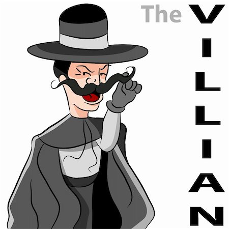 enemy - An image of a man dressed as an evil villain twirling his mustache. Stock Photo - Budget Royalty-Free & Subscription, Code: 400-04873870