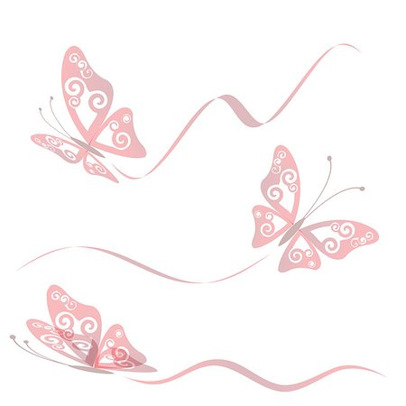 Butterfly collection with flying trace, vector illustration, eps 10 Stock Photo - Budget Royalty-Free & Subscription, Code: 400-04887682