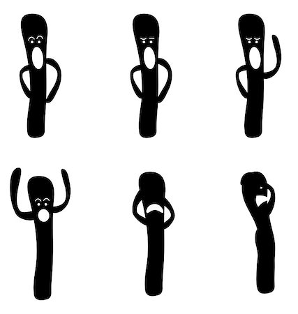abstract character with different expressions Stock Photo - Budget Royalty-Free & Subscription, Code: 400-04882756