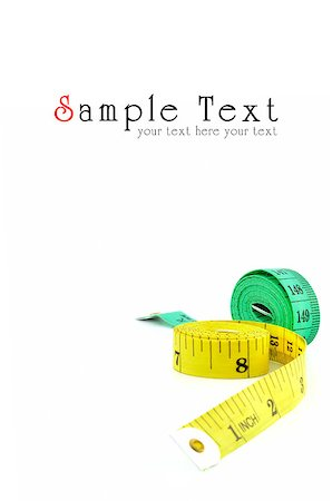Measuring tape of the tailor isolated on white background Stock Photo - Budget Royalty-Free & Subscription, Code: 400-04883768