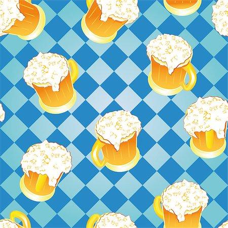 Oktoberfest background. Bavarian pattern. Vector beer wallpaper. Stock Photo - Budget Royalty-Free & Subscription, Code: 400-04894416