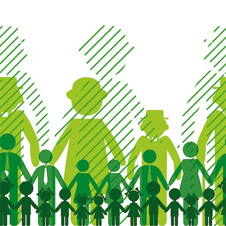 Ecology icon, family background. Seamless generation communication people. Vector crowd. Social network chain. Opportunity, relation illustration. EPS10. Stock Photo - Budget Royalty-Free & Subscription, Code: 400-04894417