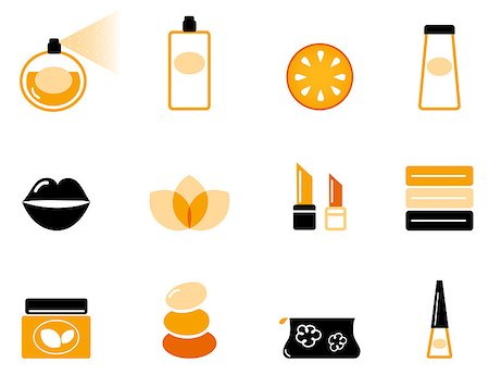 Vector collection of stylized beauty and spa icons. Stock Photo - Budget Royalty-Free & Subscription, Code: 400-04894781