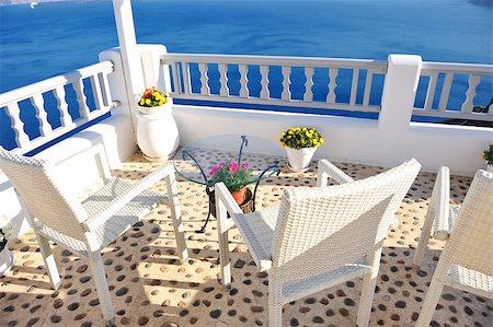 summer vacation on beautiful vulcanic island santorini at greece Stock Photo - Budget Royalty-Free & Subscription, Code: 400-04895006