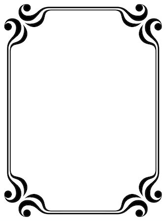 Vector simple calligraphy ornamental decorative frame pattern Stock Photo - Budget Royalty-Free & Subscription, Code: 400-04895265