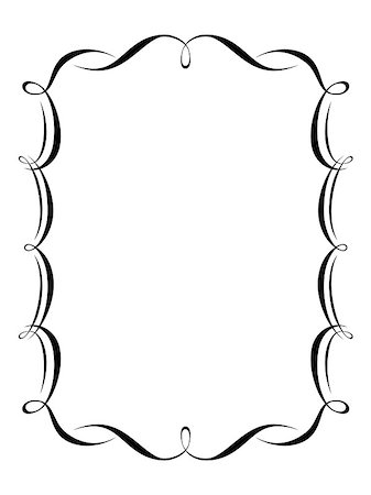 Vector calligraphy penmanship ornamental deco frame pattern Stock Photo - Budget Royalty-Free & Subscription, Code: 400-04895262