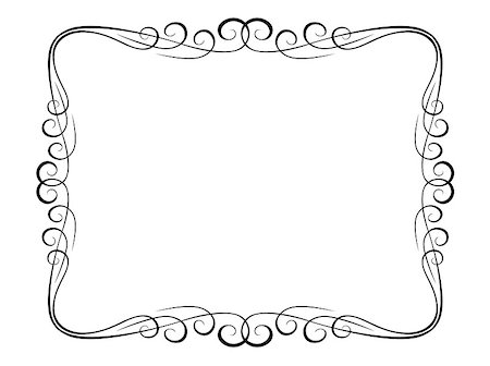 Vector calligraphy penmanship ornamental deco frame pattern Stock Photo - Budget Royalty-Free & Subscription, Code: 400-04895271