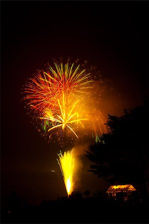 simsearch:400-04863783,k - Beautiful fireworks exploding over a dark night sky in a grand finale display. Very high resolution. Stock Photo - Budget Royalty-Free & Subscription, Code: 400-04896190