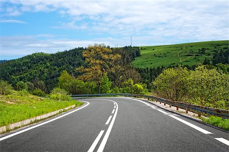 road landscape - Asphalt road Stock Photo - Budget Royalty-Free & Subscription, Code: 400-04896980