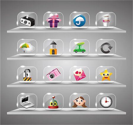 Website Internet Icons ,Transparent Glass Button Stock Photo - Budget Royalty-Free & Subscription, Code: 400-04898188
