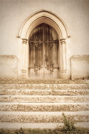 A lovely dreamy but spooky image of an old church door Stock Photo - Budget Royalty-Free & Subscription, Code: 400-04898392
