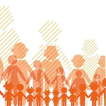 family abstract - City crowd background. Seamless communication people. Vector crowd. Social network chain. Opportunity, relation illustration. EPS10. Stock Photo - Budget Royalty-Free & Subscription, Code: 400-04898576