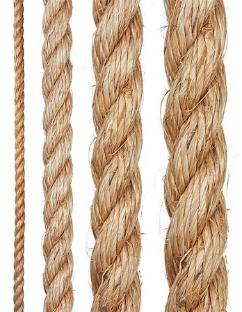 Set of various ropes isolated on white background Stock Photo - Budget Royalty-Free & Subscription, Code: 400-04890365