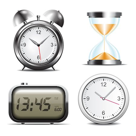 sand clock - Clock vector icons set Stock Photo - Budget Royalty-Free & Subscription, Code: 400-04892339