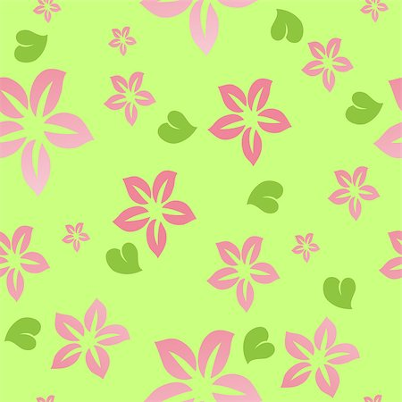 simsearch:400-04744132,k - Flower seamless background. Vector Stock Photo - Budget Royalty-Free & Subscription, Code: 400-04892506