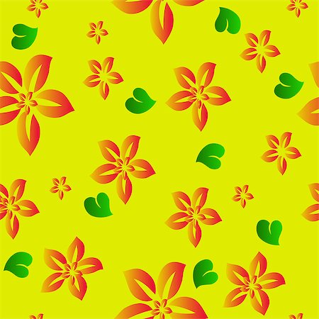 simsearch:400-04744132,k - Flower seamless background. Vector Stock Photo - Budget Royalty-Free & Subscription, Code: 400-04892507