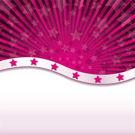 Pink abstract background with stars, Vector illustration Stock Photo - Budget Royalty-Free & Subscription, Code: 400-04893087