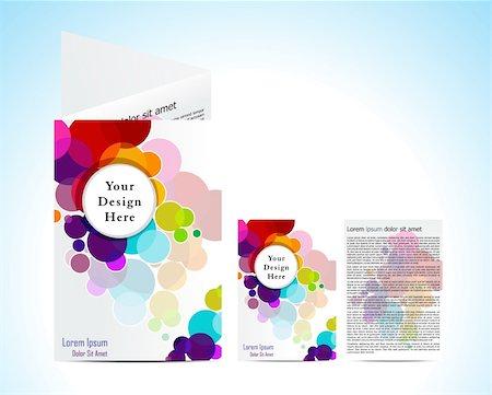 abstract colorful circular  brochure vector illustration Stock Photo - Budget Royalty-Free & Subscription, Code: 400-04906120