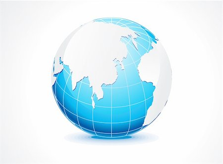abstract blue globe vector illustration Stock Photo - Budget Royalty-Free & Subscription, Code: 400-04906172
