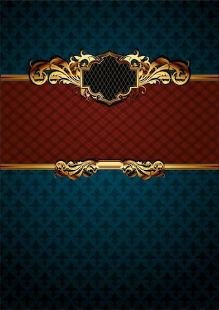 ornate frame, this illustration may be useful as designer work Stock Photo - Budget Royalty-Free & Subscription, Code: 400-04906239