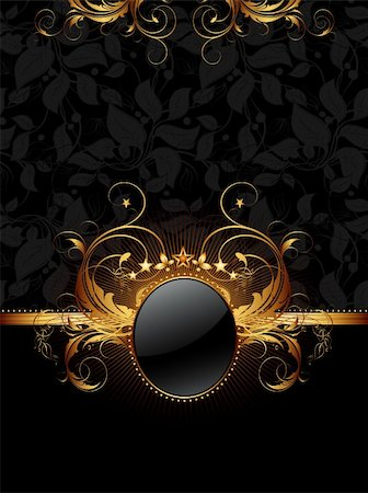 ornate frame, this illustration may be useful as designer work Stock Photo - Budget Royalty-Free & Subscription, Code: 400-04906242