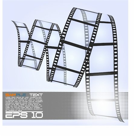film strip - eps10 filmstrip Stock Photo - Budget Royalty-Free & Subscription, Code: 400-04907240