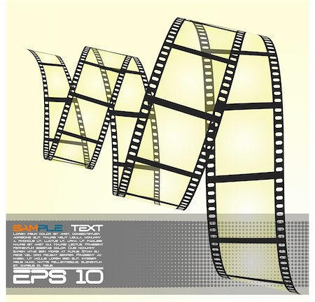 film strip - eps10 filmstrip Stock Photo - Budget Royalty-Free & Subscription, Code: 400-04907241