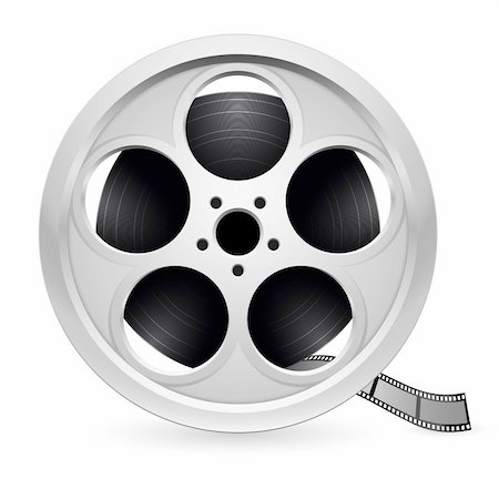 film strip - Realistic reel of film. Illustration on white background Stock Photo - Budget Royalty-Free & Subscription, Code: 400-04908524