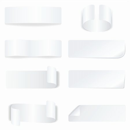 White paper labels and stickers Stock Photo - Budget Royalty-Free & Subscription, Code: 400-04908784
