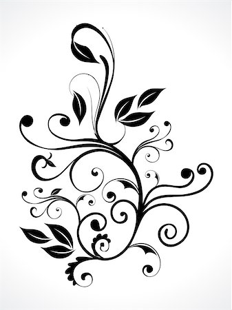 abstract floral with curve vector illustration Stock Photo - Budget Royalty-Free & Subscription, Code: 400-04909155