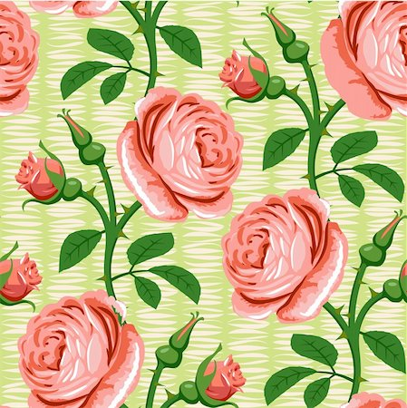 seamless romantic rose pink background design pattern Stock Photo - Budget Royalty-Free & Subscription, Code: 400-04900401