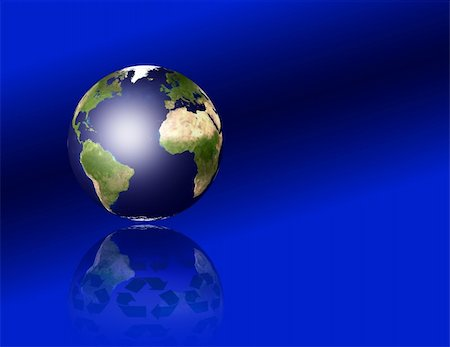 rolffimages (artist) - Earth with recycle symbols Stock Photo - Budget Royalty-Free & Subscription, Code: 400-04901621