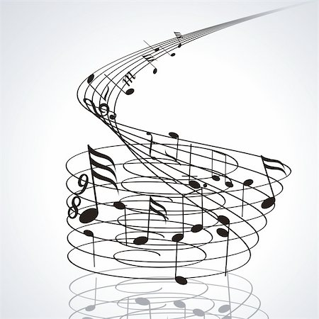 simsearch:400-04676325,k - Music notes on staves. Vector music background. Stock Photo - Budget Royalty-Free & Subscription, Code: 400-04901975