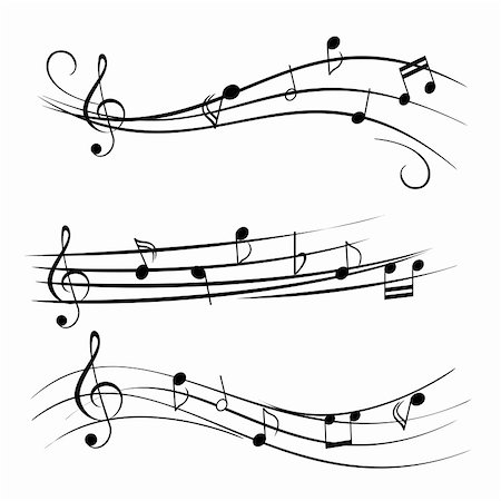 Music notes on white background Stock Photo - Budget Royalty-Free & Subscription, Code: 400-04902742