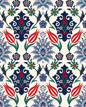 Abstract retro seamless floral background. Paper textile. Vintage wallpaper. Texture royal vector. Pattern flower. Fabric floral illustration. Stock Photo - Budget Royalty-Free & Subscription, Code: 400-04902785