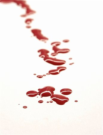 Drops of blood on white background Stock Photo - Budget Royalty-Free & Subscription, Code: 400-04903046