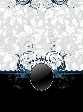 ornate frame,  this illustration may be useful as designer work Stock Photo - Budget Royalty-Free & Subscription, Code: 400-04914037