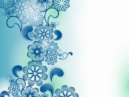 background with blue flowers place for your text Stock Photo - Budget Royalty-Free & Subscription, Code: 400-04916359