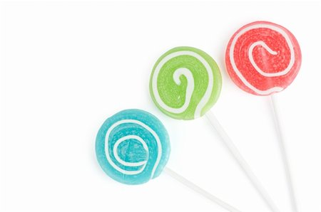 simsearch:400-04344039,k - Colourful lollipop isolated on the white background Stock Photo - Budget Royalty-Free & Subscription, Code: 400-04916600