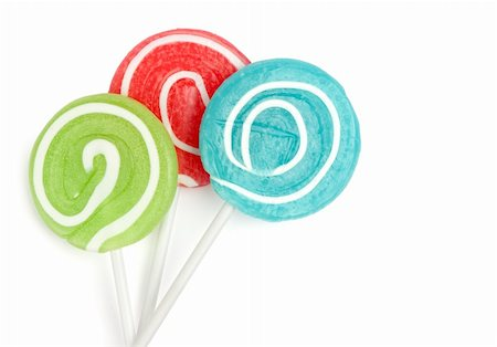 eat lollipop bubblegum - lollipops isolated on white Stock Photo - Budget Royalty-Free & Subscription, Code: 400-04916601